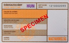 Hungarian Student ID - new format